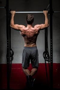CrossFit athlete doing chin-ups